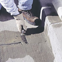 QUIKRETE® Concrete Resurfacer Must First Be Used To Repair Any Cracks That  Might Be Present In The Existing Concrete.