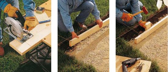 How to Build & Install Patio Forms - QUIKRETE® - Building A Concrete Patio