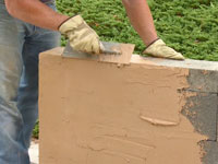 How to videos quikrete cement and concrete products - How to stucco exterior cinder block walls ...
