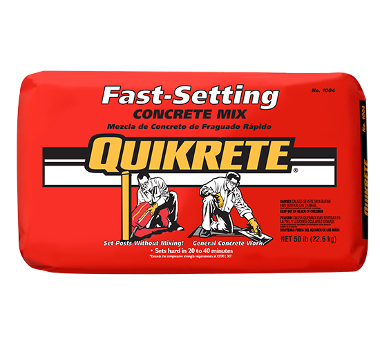 Fast Setting Concrete Mix Quikrete Cement And