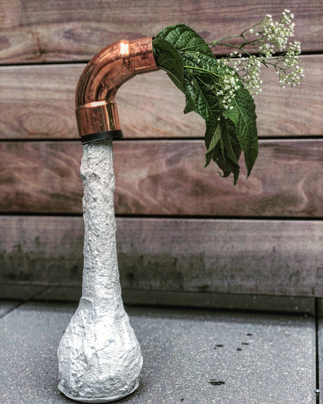 Concrete and Copper Vase - One Bag Wonder Contest Entries