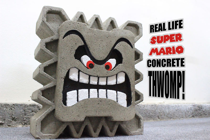 Super Mario Concrete Thwomp - One Bag Wonder Contest Entries