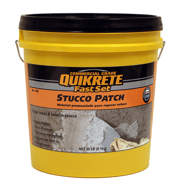 QUIKRETE<sup>®</sup> FastSet<sup>™</sup> Stucco Patch  (No. 1139-92)