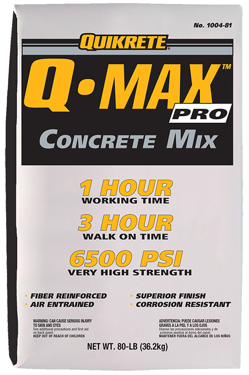 Q•Max Pro® | QUIKRETE: Cement and Concrete Products