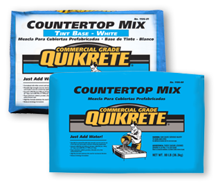 Commercial Grade QUIKRETE® Countertop Mix in White and Grey