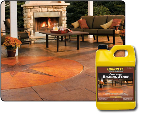 Concrete Etching Stains Quikrete Cement And Concrete Products
