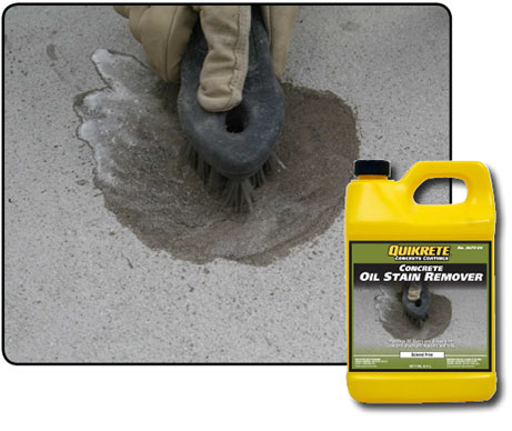 Concrete Stain Remover >> Oil Stain Remover Quikrete Cement And Concrete Products