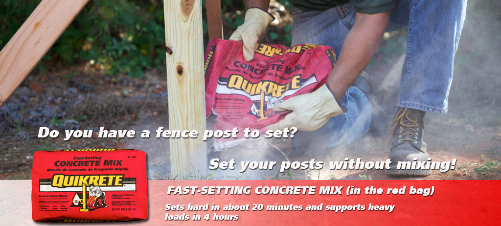 Quikrete - Fast-Setting Concrete Mix