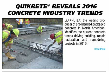 QUIKRETE Reveals 2016 Concrete Industry Trends