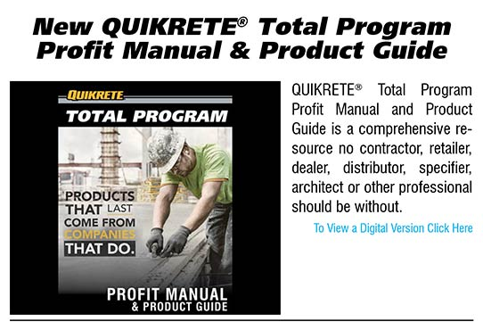 New QUIKRETE Total Program Profit Manual and Product Guide