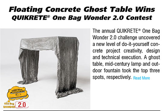 Floating Concrete Ghost Table Wins