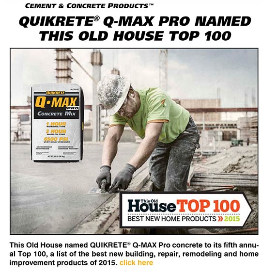 QUIKRETE Q-Max Pro named This Old House Top 100
