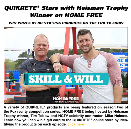 QUIKRETE Stars with Heisman Trophy Winner on Home Free