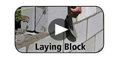 How-To Video Gallery - Laying Block