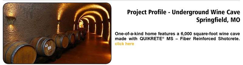 Project Profile – Underground Wine Cave Springfield, MO