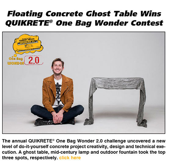 Congratulations to our QUIKRETE One Bag Wonder 2.0 winners!