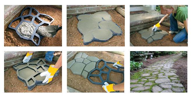 Quikrete country stone walk maker concrete mold home for Walk maker ideas